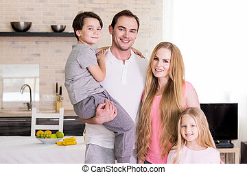 Portrait of family at home