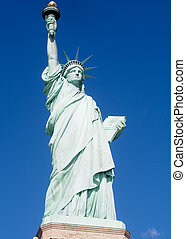 Statue of Liberty New York City - The Statue of Liberty on a...