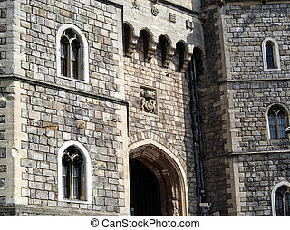 Windsor Castle near London England - The Queen's residence,...