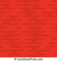 Ripple Irregular Rounded Lines Seamless Pattern. Red...