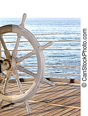 Obsolete and rusted ship rudder close up image