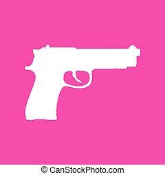 Ilustración, arma de fuego, señal, Plano de fondo, blanco,...