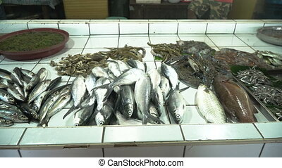 Seafood in Asian market. - Fresh Seafood in Asian market....