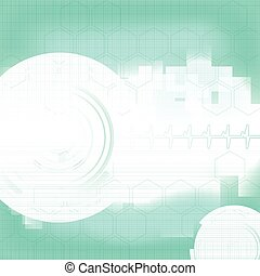 Abstract medical blue green background