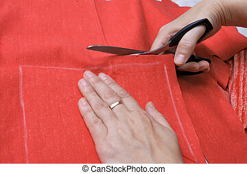 The cutting of tissue