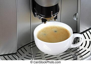 máquina, café,  espresso, taza