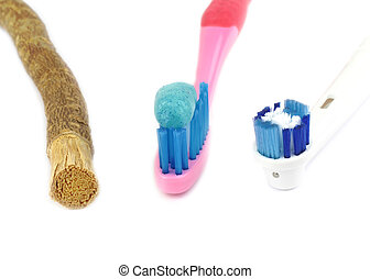 Toothbrush and old islamic traditional natural toothbrush...
