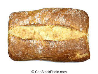 Fresh peasant bread close up image