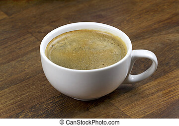 Fresh yummy coffee close up image
