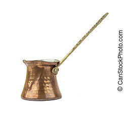 Turkish traditional copper coffee pot