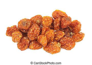 Sun dried golden berries - (Physalis peruviana) - isolated...