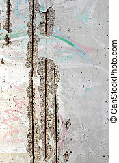 Part of the Berlin Wall close up image