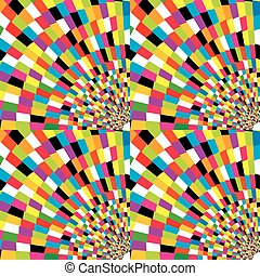 Colorful mosaic geometric background - Colorful mosaic...