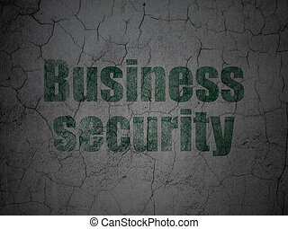 Safety concept: Business Security on grunge wall background