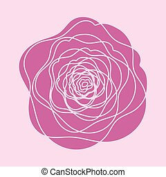 Vector Red rose flower