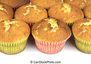 Yummy delicious muffins close up image