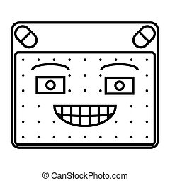smirk - simple thin line smirk icon vector
