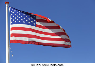 US flag flying in the wind