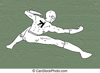 creative kung fu pose - design of creative kung fu pose