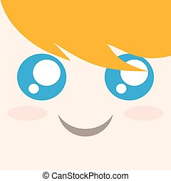 funny blondie face vector - design of funny blondie face...