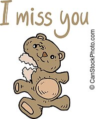 I miss you message - design of I miss you message