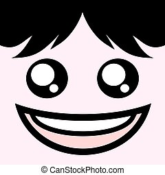 very happy face - draw of very happy face