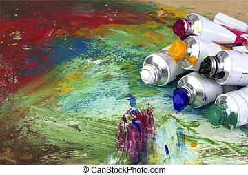 imagen, colores, Pintura