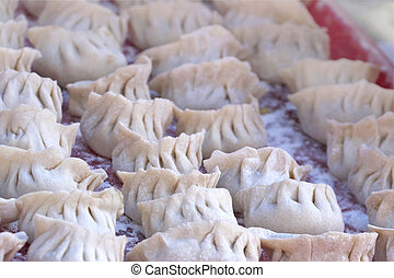 Homemade Chinese Dumplings - Uncooked