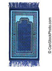 Prayer rug for muslims on white background
