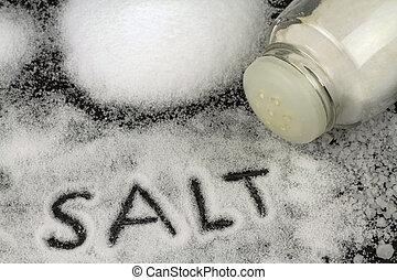 Organic natural salt close up image