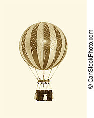 Old fashioned helium balloon close up image