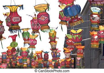 Chinese silk lanterns