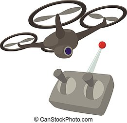 RC helicopter icon, cartoon style - RC helicopter icon....