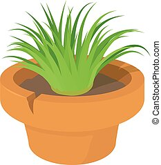Home plant icon, cartoon style