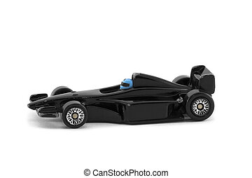 Toy car formula one isolated on white