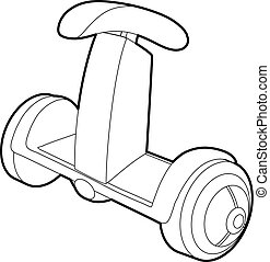 Ecology segway icon, outline style - Ecology segway icon....