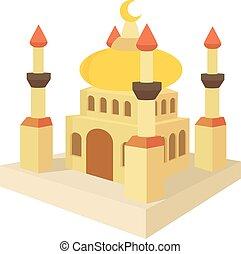 Arabic town icon, cartoon style - Arabic town icon. Cartoon...