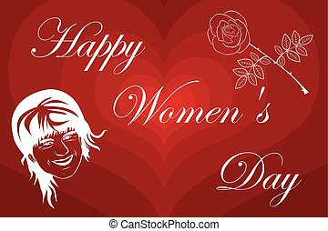 Woman and flower, 8 March International Women's Day