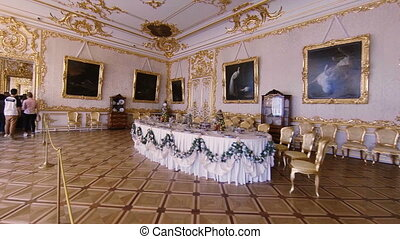 Gorgeous rooms and interiors of the Catherine Palace in St. Petersburg.