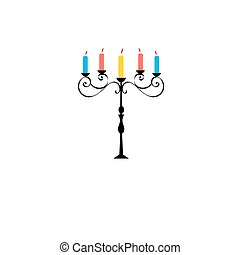 Vector symbol of a beautiful candlestick on a white...