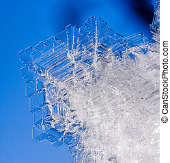 Natural ice crystals - Natural ice crystal texture for...