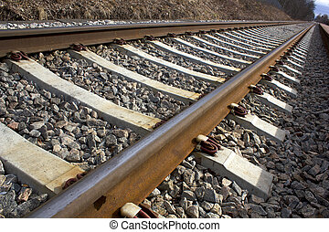 Railway, a foto with perspective close up image