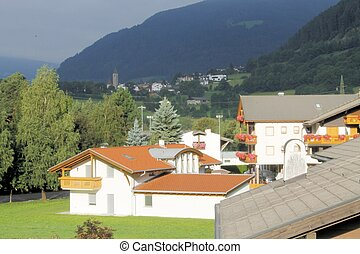 Tyrol - Typical architecture of the town of Vipiteno in...
