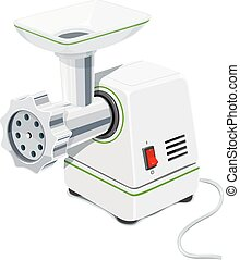 Electric Meat grinder. Kitchen equipment for grind. Mincer...