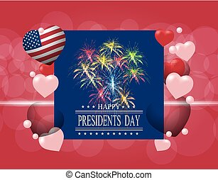 Presidents' Day. Greeting card or invitation. The...