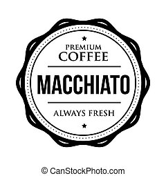 Coffee Macchiato vintage stamp vector
