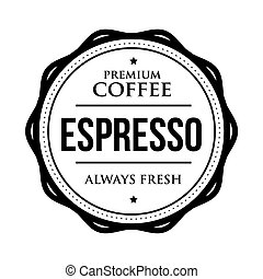 Coffee Espresso vintage stamp vector