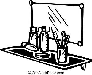 Waschbecken stock illustrationen waschbecken for Badezimmer clipart