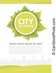City go green vector flyer template illustration.
