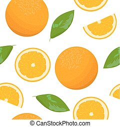 Orange theme. Seamless pattern vector collection of...